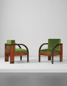 Gino Levi-Montalcini, 'Pair of armchairs, from the Palazzo Gualino, Turin', ca. 1928