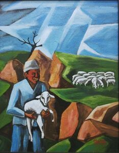 Peter Clarke (1929-2014), 'The Shepherd and the Lost Sheep', 1969