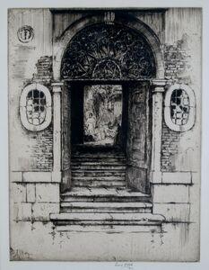 Ernest David Roth, 'Shadowed Doorway, Venice', 1914