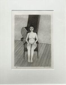 John Brack, 'Nude on Chair', 1982