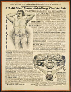 Wally Hedrick, '$18.00 Giant Power Heidelberg Electric Belt', 1973