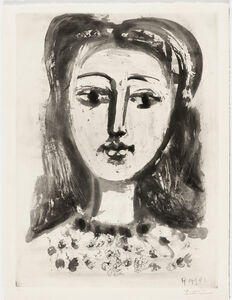 Pablo Picasso, 'Portrait of Francoise with Frizzy Hair', 1947