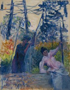Henri-Edmond Cross, 'Etude pour Jardin en Provence', 1901