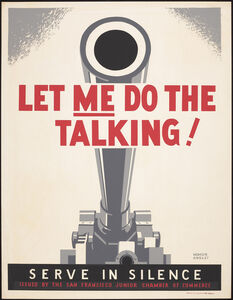 Homer Ansley, 'Let Me Do the Talking! Serve in Silence, ', 1941-1943