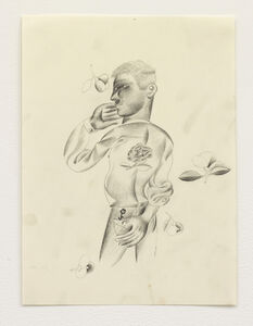 Louis Fratino, 'Figure and flowers', 2020