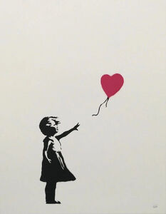 Banksy, 'Girl With Balloon (Signed)', 2004