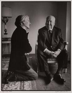Jill Krementz, 'Andy Warhol and Alfred Hitchcock', 1974