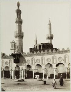 Félix Bonfils, 'Cour et minarets de la mosqu'e El-Azhar', 1880
