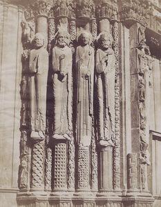 Pierre Emile Joseph Pécarrère, 'Chartres Cathedral', 1852/1852c