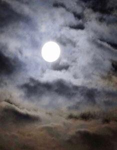 Mary McKenna Ridge, 'The Flower Moon Emerging, 3:05 a.m.', 2020
