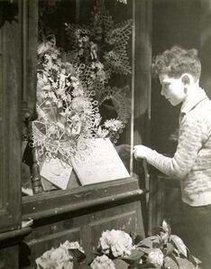 Dora Maar, 'Little Boy Looking in a Funeral Store Window (Paris)', 1930c/1930c