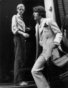 Ron Galella, 'Twiggy with Justin de Villeneuve at Bert Stern's studio, New York', 1967