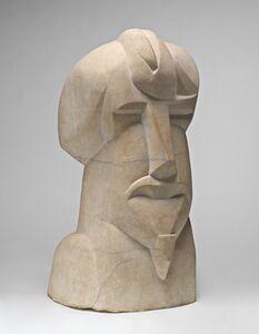 Henri Gaudier-Brzeska, 'Hieratic Head of Ezra Pound', 1914