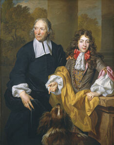 Nicolas de Largillièrre, 'Portrait of a Young Man and His Tutor', 1685