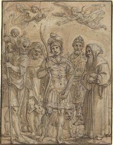 Pieter de Jode I, 'Five Saints'