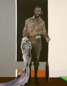 Noah Davis, 'Man with Shotgun and Alien', 2008