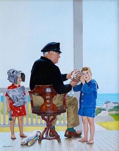 John Philip Falter, 'Summer by the Sea, Saturday Evening Post Cover, 1956', 1956