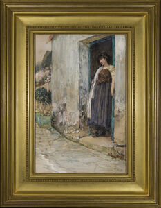 Childe Hassam, 'Woman at the Door', about 1889