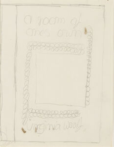 """Vanessa Bell, 'Study for Dust Jacket of """"A Room of One's Own""""', 1929"""