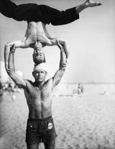 Larry Silver, 'Headstand, Muscle Beach Santa Monica, CA', 1954