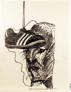 Leonard Rosenfeld, 'Worn Out Running Shoe and Man', 1990