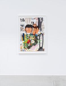 Philip Emde, '. Fünf Masken .. and a Pot of fake Flowers ...', 2020