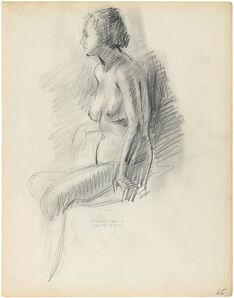 Charles White, 'SEATED NUDE', ca. 1935-38