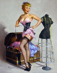 Gil Elvgren, 'Waisted Effort', 1950