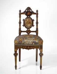 Herter Brothers, 'Side Chair From the Drawing Room of Elm Park, the LeGrand Lockwood Mansion, Norwalk, Connecticut', circa 1869-1870