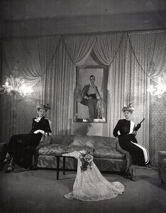 Pasquale de Antonis, 'Inside Milio Schuberth's atelier among the models the designer's portrait'