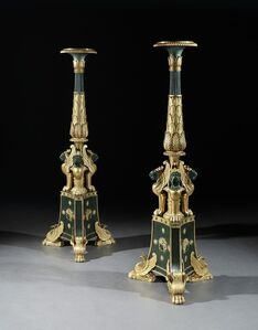 George Smith, 'A PAIR OF REGENCY PARCEL GILT TORCHÈRES IN THE MANNER OF GEORGE SMITH ', ca. 1815