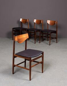 Gianfranco Frattini, 'Four chairs', vers 1960