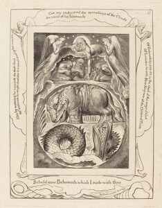 William Blake (1757-1827), 'Behemoth and Leviathan', 1825