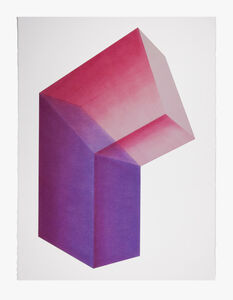 Brant Ritter, 'Accidental Happiness (Vertical) Purple-Red + Pink-Red', 2017