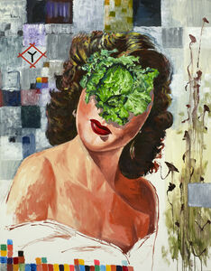 Tadanori Yokoo, 'Woman with Cabbage ', 2017