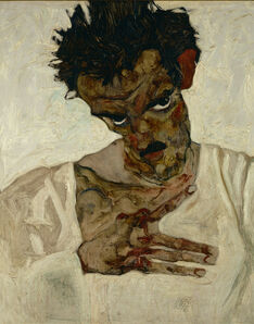 Egon Schiele, 'Self-Portrait with Bent Head (Study for Eremiten/Hermits)', 1912