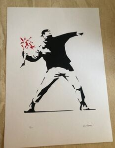 After Banksy, 'Flower Thrower-Red', Unknown