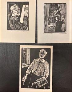 Conrad Felixmuller, 'THREE PORTRAITS INCLUDING TWO SELF', 1965 -1967