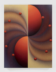 Loie Hollowell, 'Boob Wheel in red, brown and blue', 2020