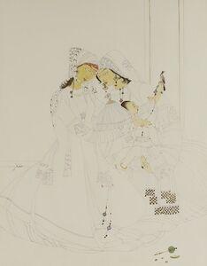 Abdur Rahman Chughtai, 'Two maidens and a child ', 1965-1975