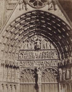Pierre Emile Joseph Pécarrère, 'Cathedrale de Bourges', 1851/1851c