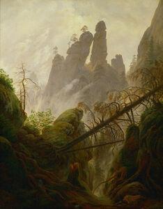 Caspar David Friedrich, 'Mountain Landscape (Felsenlandschaft im Elbsandsteingebirge)', 1822-1823