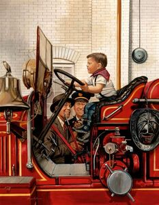 Stevan Dohanos, 'The Future Fireman, The Saturday Evening Post Cover', 1953