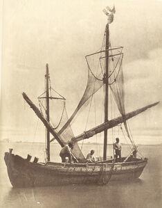 Carlo Naya, 'Fishermen off the Coast of Venice, Italy', 1870s / 1870c