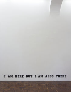 Ruth Proctor, 'I am here but I am also there (Varsity Black)', 2014