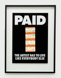 Billy Apple, 'PAID: The Artist Has to Live Like Everybody Else,4 x British Rail tickets: £219 Kings X London to Berwick on Tweed ', 1987-2018