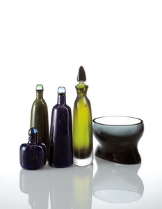 Venini, 'Four decanters and a bowl', 1946-1966