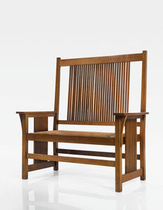Gustav Stickley, 'Tall-Back Spindle Settle, Model No. 286', circa 1905