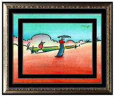 Peter Max, 'PETER MAX All ORIGINAL Signed Ink and WATERCOLOR PAINTING Pop Art UMBRELLA MAN', 20th Century
