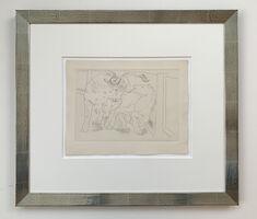 Pablo Picasso, 'Taureau et Cheval dans l'Arène', 1929